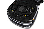 Car stock 2018 Dodge Durango R/T 5 Door SUV engine high angle detail view