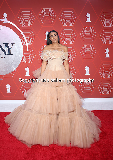 Nicolette Robinson attends the 74th Tony Awards-Broadway's Back! arrivals at the Winter Garden Theatre in New York, NY, on September 26, 2021. (Photo by Udo Salters/Sipa USA)