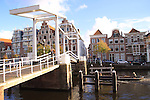 Bridge over the Spaarne River, Haarlem, Holland, Netherlands