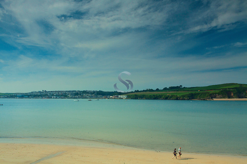 Padstow and the Camel Estuary from Rock, Cornwall