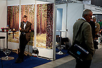 """Exhibitor and visitors at trade fair. Renewable sources will be helping to meet the world's demand for energy in the future. This development opens new markets and opportunities for business. Hoping to make """"green business"""" and """"green profit"""" over 60 exhibitors took part in the The North European Renewable Energy Convention (Nerec) , in Norway, presenting their solutions for renewable energy in the future. .© Fredrik Naumann/Felix Features"""