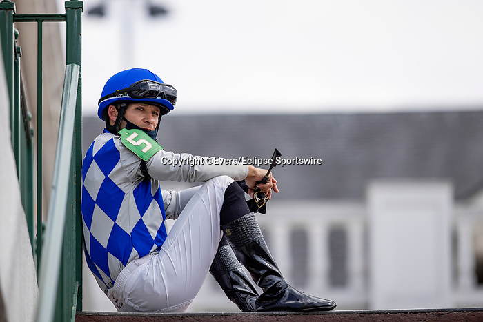 September 3, 2020:  Jockey David Cohen before a race at Churchill Downs in Louisville, Kentucky, on September 03, 2020. Evers/Eclipse Sportswire/CSM