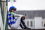 September 3, 2020:  Jockey David Cohen before a race at Churchill Downs in Louisville, Kentucky, on September 03, 2020. Evers/Eclipse Sportswire/CSM