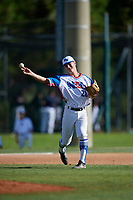 Keagan Calero during the WWBA World Championship at the Roger Dean Complex on October 19, 2018 in Jupiter, Florida.  Keagan Calero is a shortstop from Rochester, New Hampshire who attends Spaulding High School and is committed to Massachusetts at Lowell.  (Mike Janes/Four Seam Images)