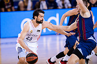 11th April 2021; Palau Blaugrana, Barcelona, Catalonia, Spain; Liga ACB Basketball, Barcelona versus Real Madrid; 23 Sergio LLull of Real Madrid during the Liga Endesa match