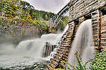 The Croton Dam at the end of Tropical Storm Nicole