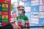 Italian Champion Elisa Longo Borghini (ITA) Trek-Segafredo interviewed at sign on before the start of Stage 3 of the CERATIZIT Challenge by La Vuelta 2020, running 98.6km around the streets of Madrid, Spain. 8th November 2020.<br /> Picture: Antonio Baixauli López/BaixauliStudio | Cyclefile<br /> <br /> All photos usage must carry mandatory copyright credit (© Cyclefile | Antonio Baixauli López/BaixauliStudio)