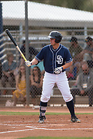 San Diego Padres first baseman Justin Paulsen (40) during a Minor League Spring Training game against the Seattle Mariners at Peoria Sports Complex on March 24, 2018 in Peoria, Arizona. (Zachary Lucy/Four Seam Images)