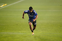 SAN JOSE, CA - SEPTEMBER 13: Nick Lima #24 of the San Jose Earthquakes during warmups before a game between Los Angeles Galaxy and San Jose Earthquakes at Earthquakes Stadium on September 13, 2020 in San Jose, California.