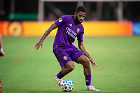 LAKE BUENA VISTA, FL - JULY 14: Ruan #2 of Orlando City SC dribbles the ball during a game between Orlando City SC and New York City FC at Wide World of Sports on July 14, 2020 in Lake Buena Vista, Florida.