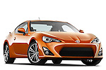 Low aggressive passenger side front three quarter view of a 2013 Toyota GT86 Sport Coupe.