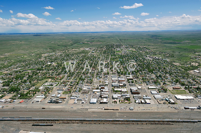 aerial of LaJunta, CO
