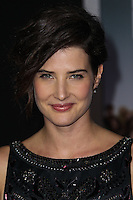 """HOLLYWOOD, CA - NOVEMBER 03: Actress Cobie Smulders arrives at the Los Angeles Premiere Of DreamWorks Pictures' """"Delivery Man"""" held at the El Capitan Theatre on November 3, 2013 in Hollywood, California. (Photo by Xavier Collin/Celebrity Monitor)"""