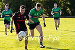 Dara Crowley Kenmare in action against  Conchub har Ó Géibheannaigh Dingle in their senior club championship semi final in Kenmare on Sunday.
