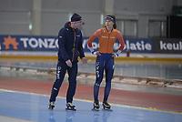 SPEEDSKATING: 12-02-2020, Utah Olympic Oval, ISU World Single Distances Speed Skating Championship, Femke Kok (NED), Henk Hospes (coach Gewest Fryslân), ©Martin de Jong