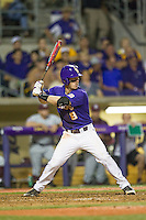 LSU Tigers shortstop Alex Bregman (8) at bat during a Southeastern Conference baseball game against the Texas A&M Aggies on April 24, 2015 at Alex Box Stadium in Baton Rouge, Louisiana. LSU defeated Texas A&M 9-6. (Andrew Woolley/Four Seam Images)