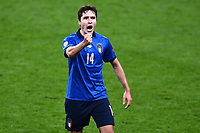 6th July 2021; Wembley Stadium, London, England; Euro 2020 Football Championships semi-final, Italy versus Spain;  Federico Chiesa turns to celebrate his goal for 1-0 in the 60th minute