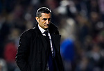 Coach Luis Ernesto Valverde Tejedor of FC Barcelona reacts during the La Liga 2018-19 match between Rayo Vallecano and FC Barcelona at Estadio de Vallecas, on November 03 2018 in Madrid, Spain. Photo by Diego Gouto / Power Sport Images