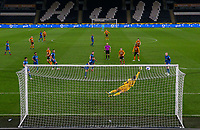 Hull City's Martin Samuelsen scores the opening goal <br /> <br /> Photographer Alex Dodd/CameraSport<br /> <br /> EFL Papa John's Trophy - Northern Section - Group H - Hull City v Grimsby Town - Tuesday 17th November 2020 - KCOM Stadium - Kingston upon Hull<br />  <br /> World Copyright © 2020 CameraSport. All rights reserved. 43 Linden Ave. Countesthorpe. Leicester. England. LE8 5PG - Tel: +44 (0) 116 277 4147 - admin@camerasport.com - www.camerasport.com