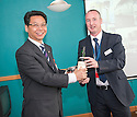 A delegation of business from China visit Forth Ports, Grangemouth Docks.