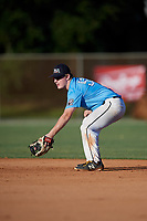 Matt McCormick during the WWBA World Championship at the Roger Dean Complex on October 19, 2018 in Jupiter, Florida.  Matt McCormick is a catcher from Orland Park, Illinois who attends St. Laurence High School and is committed to West Virginia.  (Mike Janes/Four Seam Images)