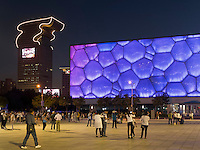Schwimmhalle Wasserwürfel im Olympia-Center, Peking, China, Asien<br /> indoor swimming pol water cube at Olympic Center,  Beijing, China, Asia