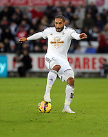 Pictured: Ashley Williams of Swansea Saturday 10 January 2015<br /> Re: Barclays Premier League, Swansea City FC v West Ham United at the Liberty Stadium, south Wales, UK