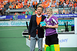 The Hague, Netherlands, June 14: Rachael Lynch #27 of Australia receives the prize for the Women´s best goalkeeper of the tournament on June 14, 2014 during the World Cup 2014 at Kyocera Stadium in The Hague, Netherlands.  (Photo by Dirk Markgraf / www.265-images.com) *** Local caption ***