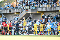 18th April 2021; Leichardt Oval, Sydney, New South Wales, Australia; A League Football, Sydney Football Club versus Adelaide United; Adelaide take to the pitch in bright sunshine before kick off