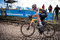 Vincent Baestaens (BEL/Hens-Maes) up the brutal Koppenberg<br /> <br /> Koppenbergcross 2020 (BEL)<br /> <br /> ©kramon