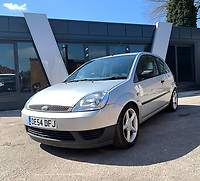 BNPS.co.uk (01202 558833)<br /> Pic: HampsonAuctions/BNPS<br /> <br /> Pictured: 2004 Ford Fiesta Finesse 1.25.<br /> <br /> Since the 1990s, Geoff Barlow, 46, has collected dozens of classic cars from an Escort Mexico replica to several types of Transit, Cortina, and Sierra.<br /> <br /> However, he still regrets selling the first car which inspired his passion, a 1980 Escort Mark 2 he bought from his sister in 1992.  <br /> <br /> Geoff's fascination with Fords gathered pace in the last decade and he 'lost control,' buying as many Fords as he came across and saving them from disrepair.