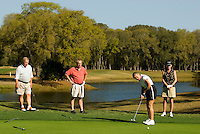 A group of golfers enjoy themselves on the golf course in Amelia Island, FL