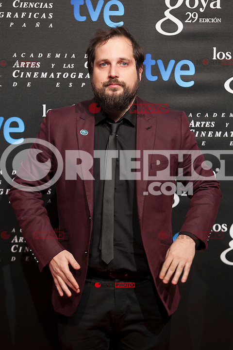 Carlos Vermut poses before the 2015 Goya Awards nominee ceremony in Madrid, Spain. January 19, 2015. (ALTERPHOTOS/Victor Blanco)