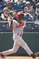 July 11, 2010: Spokane Indians shortstop Jurickson Profar (2) at-bat during a Northwest League game against the Everett AquaSox at Everett Memorial Stadium in Everett, Washington.