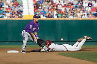 TCU's Pena, Jerome 6920.jpg against Florida State at the College World Series on June 23rd, 2010 at Rosenblatt Stadium in Omaha, Nebraska.  (Photo by Andrew Woolley / Four Seam Images)