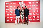 """The actors Gines Garcia Millan (Left) Leonor Watling (center) and Richard Coyle (Right) attend the photocall at the presentation of the movie """"The Food Guide to Love (Amor En Su Punto)"""" at Kitchen Club in Madrid, Spain. May 05, 2014. (ALTERPHOTOS/Carlos Dafonte)"""