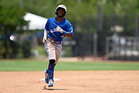 Toronto Blue Jays Justin Ammons (29) rounds the bases after hitting a home run during an Extended Spring Training game against the Philadelphia Phillies on June 12, 2021 at the Carpenter Complex in Clearwater, Florida. (Mike Janes/Four Seam Images)