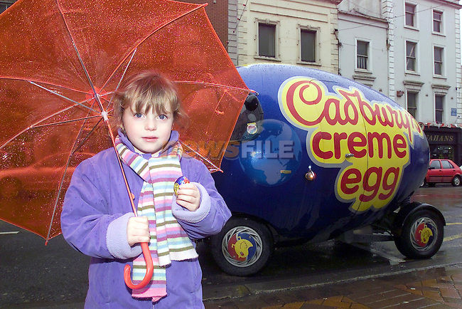 Beth Sheridan from termonfeckin Co Louth showing off who she eats her cream egg...No repo Fee...Picture Fran Caffrey Newsfile.