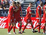 CD Leganes' Luciano Vietto (l) and Pablo Sarabia celebrate goal during La Liga match. October 15,2016. (ALTERPHOTOS/Acero)