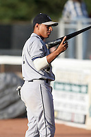 Mahoning Valley Scrappers Josh Rodriguez during a NY-Penn League game at Russell Diethrick Park on August 11, 2006 in Jamestown, New York.  (Mike Janes/Four Seam Images)