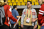 MONTREAL, QC - APRIL 29:   Marc-Andre Fabien speaks with guests during the 2017 Montreal Paralympian Search at Complexe sportif Claude-Robillard. Photo: Minas Panagiotakis/Canadian Paralympic Committee