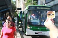 CAMPINAS, SP 13.03.2019-ATO/POLUIÇÃO-Ato feito pela Organização Minha Campinas nesta quarta-feira (13) em frente à Prefeitura, no centro da cidade de Campinas (SP). Ela visa ressaltar o papel e a enorme responsabilidade do poder público para reverter esse cenário, já que Campinas está prestes a abrir licitação para o transporte público municipal sem incluir um cronograma para zerar as emissões da frota, como foi feito em São Paulo e Santo André. Trezentas e cinquenta pessoas morrem todos os anos em Campinas em decorrência do material particulado suspenso no ar da cidade, o que equivale a quase um óbito por dia. (Foto: Denny Cesare/Código19)