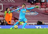Sunday 07 December 2014<br /> Pictured: Lukasz Fabianski goalkeeper for Swansea<br /> Re: Premier League West Ham United v Swansea City FC at Boleyn Ground, London, UK.