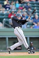 Infielder Trey Michalczewski (27) of the Kannapolis Intimidators bats in a game against the  Greenville Drive on Thursday, April 10, 2014, at Fluor Field at the West End in Greenville, South Carolina. Michalczewski is the No. 19 prospect of the Chicago White Sox, according to Baseball America.  Greenville won, 7-6. (Tom Priddy/Four Seam Images)