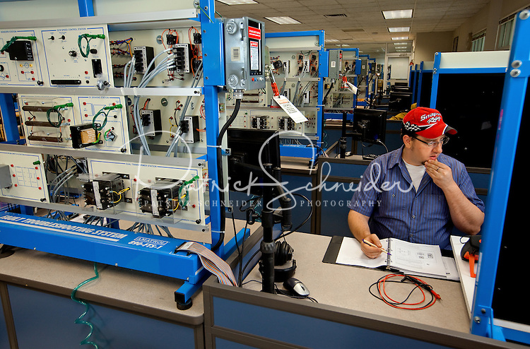 Central Piedmont Community College (CPCC) offers courses mechatronics engineering technology. Mechatronics combines the engineering specialities of mechanical, computer, electronic, software, constrol and systems design engineering.