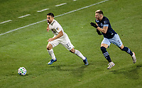 CARSON, CA - MARCH 07: Sebastian Lletget #17 of the LA Galaxy turns and moves with the ball during a game between Vancouver Whitecaps and Los Angeles Galaxy at Dignity Health Sports Park on March 07, 2020 in Carson, California.