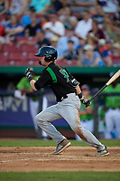 Dayton Dragons Morgan Lofstrom (34) at bat during a Midwest League game against the Kane County Cougars on July 20, 2019 at Northwestern Medicine Field in Geneva, Illinois.  Dayton defeated Kane County 1-0.  (Mike Janes/Four Seam Images)