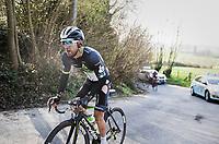Algerian rider Youcef Reguigui (ALG/Dimension Data) trying to get back to the peloton after a crash<br /> <br /> 60th E3 Harelbeke (1.UWT)<br /> 1day race: Harelbeke › Harelbeke - BEL (206km)