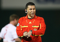 Referee Jorge Gonzalez during an MLS match between  D.C. United and the New York Red Bulls at RFK Stadium, in Washington D.C. on April 21 2011. Red Bulls won 4-0.