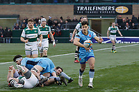 Grayson Hart of London Scottish during the Greene King IPA Championship match between Ealing Trailfinders and London Scottish Football Club at Castle Bar , West Ealing , England  on 19 January 2019. Photo by Carlton Myrie/PRiME Media Images